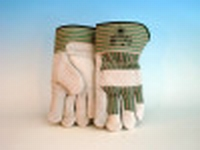 Splitlederen handschoen cat. 2 met palmversterking