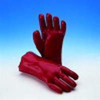Handschoen PVC rood, Cat.2