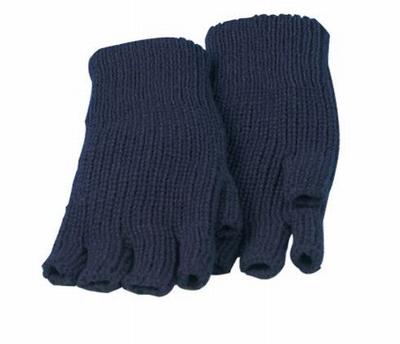 Vingertopvrije acryl handschoen, zonder vingertoppen  Paar