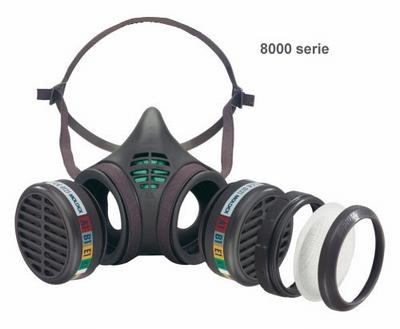 Moldex halfgelaatsmasker, maat M - Bestel: M488.095 filte