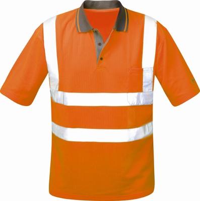 Poloshirt ULWE, fluor oranje, 100 % polyester, piqué  stuks