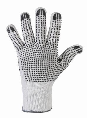 Rond gebreide handschoen, met pvc nop, dubbelzijdig genopt  paar