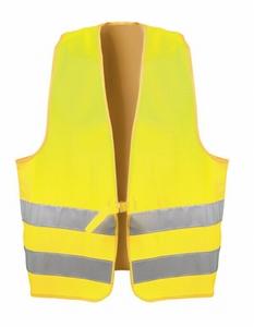 Signaalvest fluor geel, EN 471, duoringsluiting