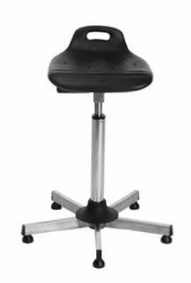 Omega zit-sta stoel uit roestvaststaal (inox / rvs)