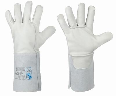 Lashandschoen Premium volleder, 35 cm splitleder kap, XL  Paar