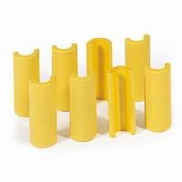 Kunststofclips voor buis-ø 34mm, per 6 stuks