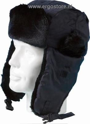 Polarmuts Antarticap met bont en oorkleppen, coldstore  stuks