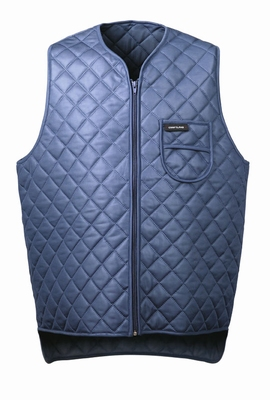 Thermal isolatie vest gewatteerd blauw