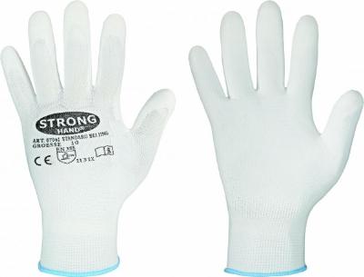 Handschoen, wit,  polyamide (nylon) met PU coating