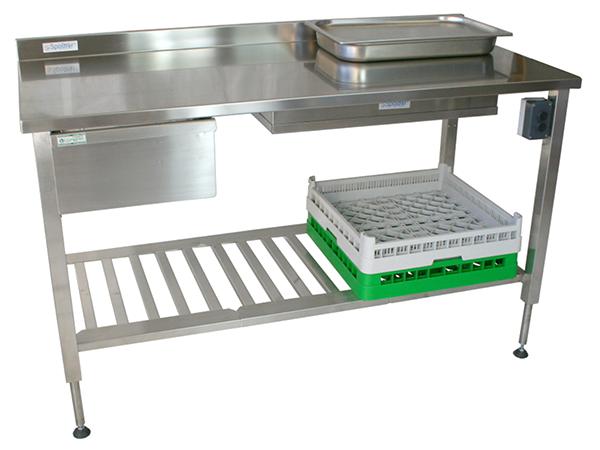 RVS Inox hoogte verstelbare werktafel - hydraulisch