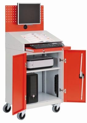 Computerkast  B&H werkplaats mobiel met flatscreen-houder  stuks