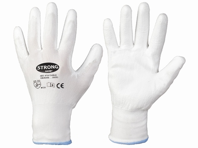 Stronghand Taibai X-Light, 100% white nylon, wit PU coated