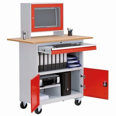 Computerkast  B&H werkplaats mobiel met flatscreen kast