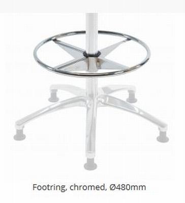 Voetenring hoogte-verstebaar chrome ⌀ 480 mm