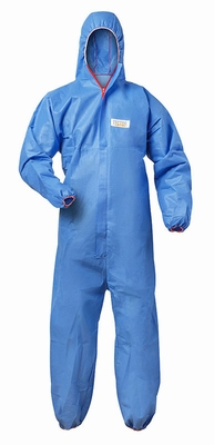 Vlamvertragende FR disposable overall  kleur blauw
