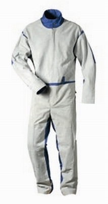 Zandstraal overall van leer / textiel