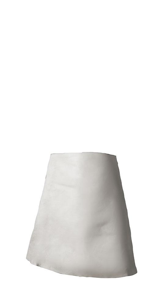 Lasschort nerf rund-volleder, afmeting: ca. 60 x 70 cm