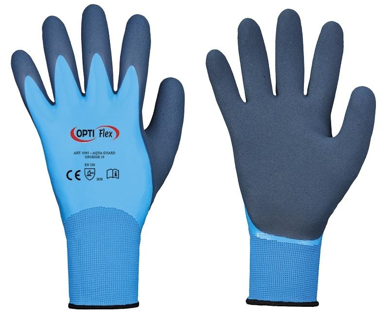 AQUA-GUARDS Food dubbel latex gecoate handschoenen