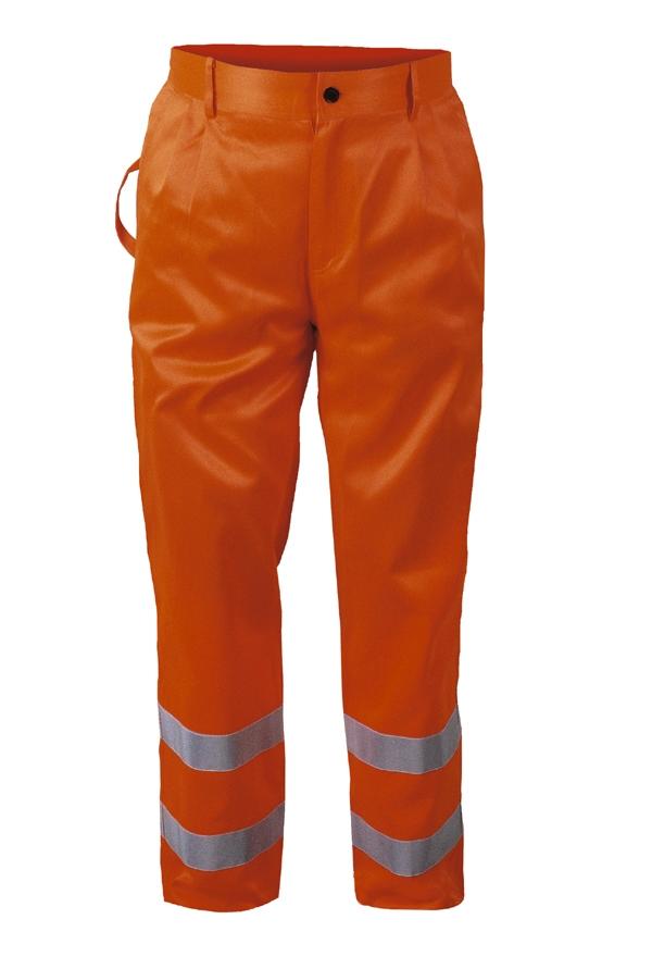 Broek HEINO signaal reflectie fluor oranje, taille