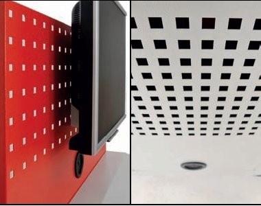 Computerkast  B&H werkplaats mobiel met flatscreen-houder