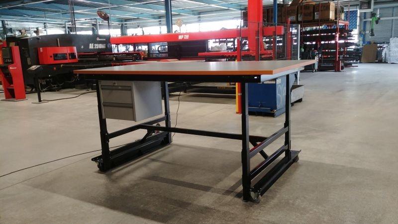 ErgoStore Industrial hoogteverstelbare werktafel