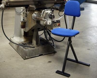Global zit-sta stoel met schuifzitting 50-85 cm - coated