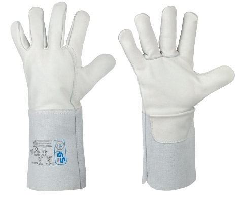 Lashandschoen Premium volleder, 35 cm splitleder kap, XL