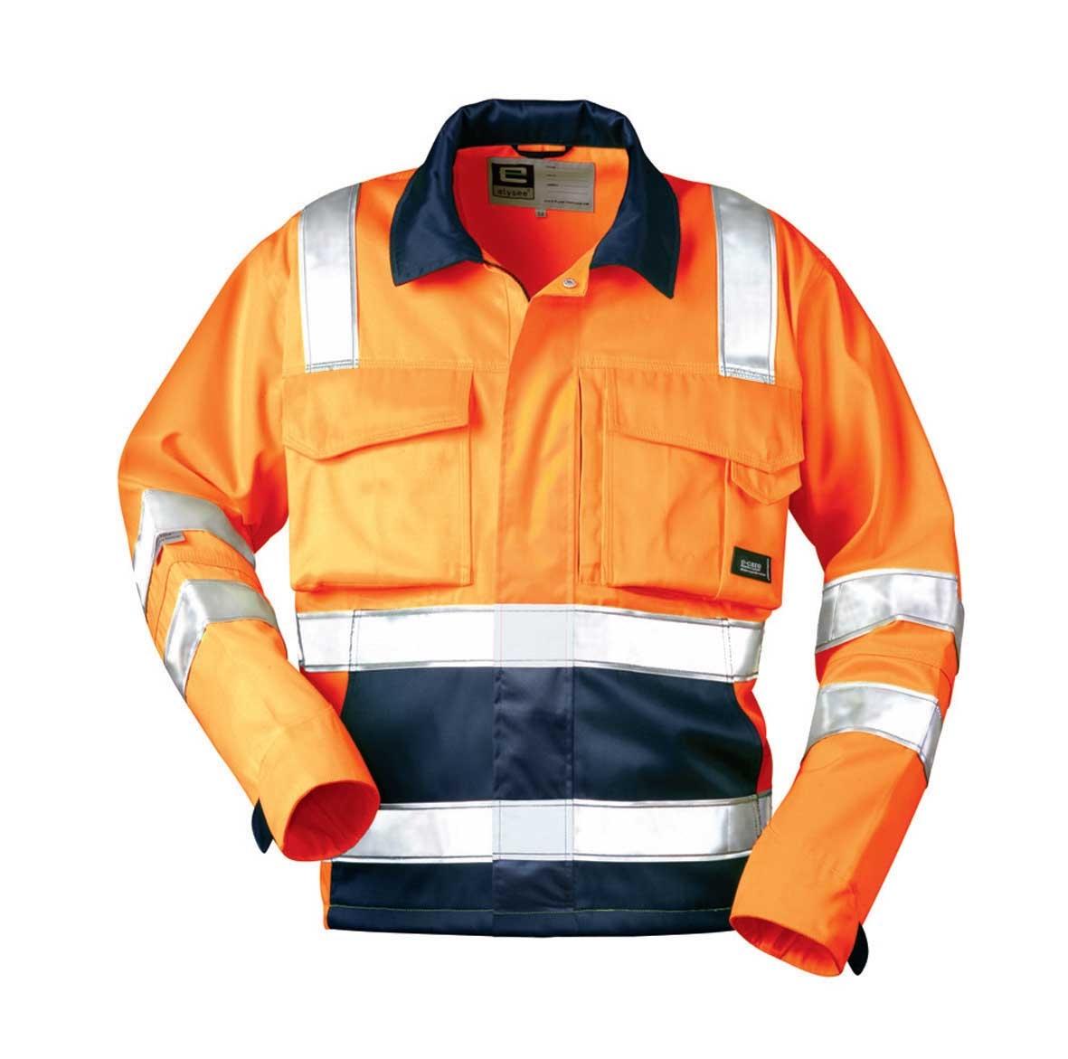 Signaal jas LARISSE, fluoriscerend oranje