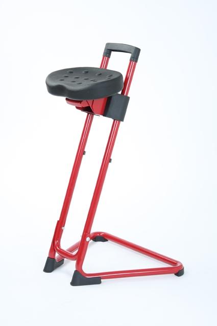 Stahulp Ready-Steady-Stand -met Swing-Seat-PU - zwart
