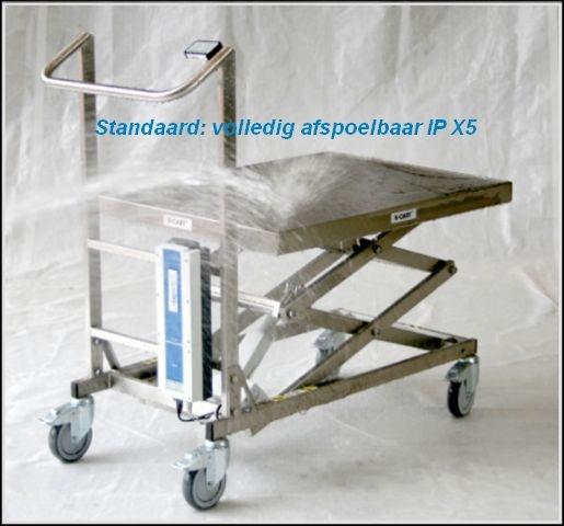 X-Cart RVS schaarheftafel voor food, farma en cleanroom