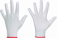 Rondgebreide genopte handschoen, fijngeweven 100 % polyester