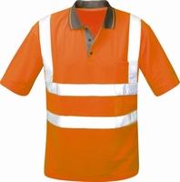 Poloshirt ULWE, fluor oranje, 100 % polyester, piqué