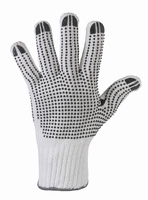 Rond gebreide handschoen, met pvc nop, dubbelzijdig genopt