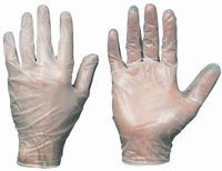 Saniya vinyl disposable handsch ongepoederd, Cat.1, naturel, Paar
