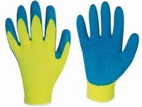 HARRAR fluorgeel grip handschoenen latex rinklecoating paar
