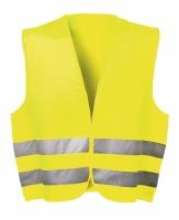 Signaalvest fluor geel/oranje, EN 471, univ.maat, klitteband