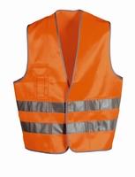 Signaalvest fluor oranje/geel, EN 471, mt L-XL zak + klitlsl