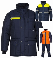 IBV parka Classic-Yellow Safety Reflex vrieshuis orderpicker