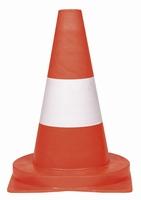 Verkeerskegel - pilon 32 cm pvc signaal-oranje - 5 stuks