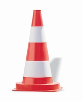 Verkeerskegel - pilon 50 cm pvc signaal-oranje - 5 stuks