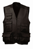 Bodywarmer Craftland Multipocket antraciet, pol/kat. 65/35