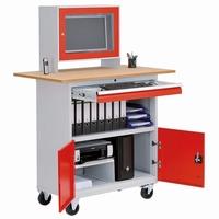 Computerkast  B&H werkplaats mobiel met flatscreen kast stuks